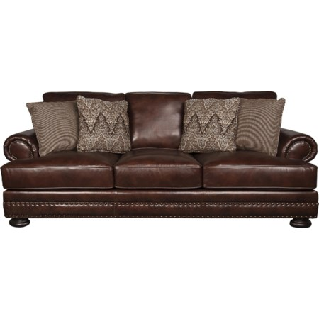 Foster 100% Leather Sofa