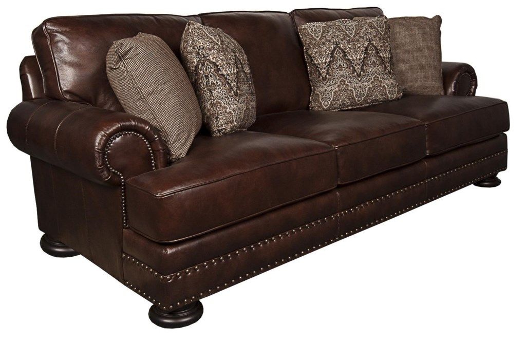 bernhardt foster 100% leather sofa - morris home - sofas