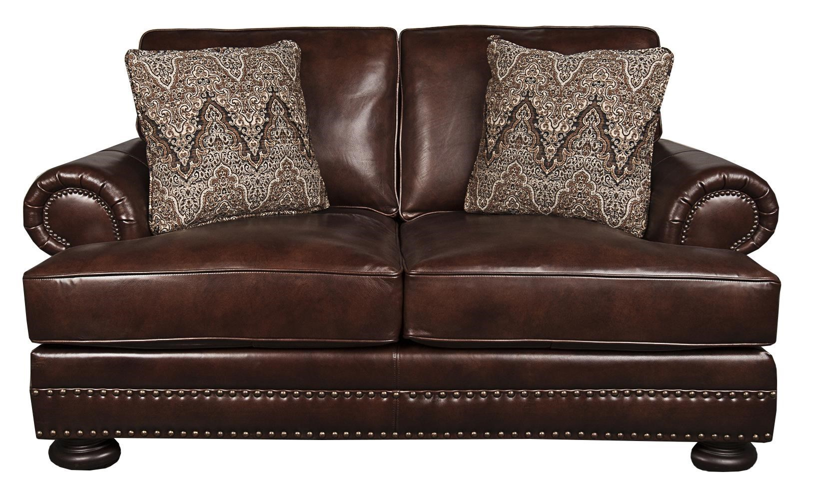 Delightful Bernhardt FosterFoster 100% Leather Loveseat ...