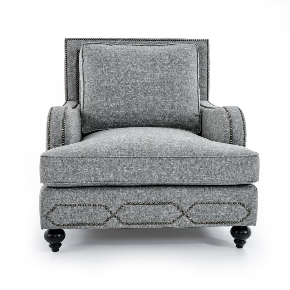 Bernhardt Franklin B4822A GRAY Chair With Transitional Style | Baeru0027s  Furniture | Upholstered Chairs