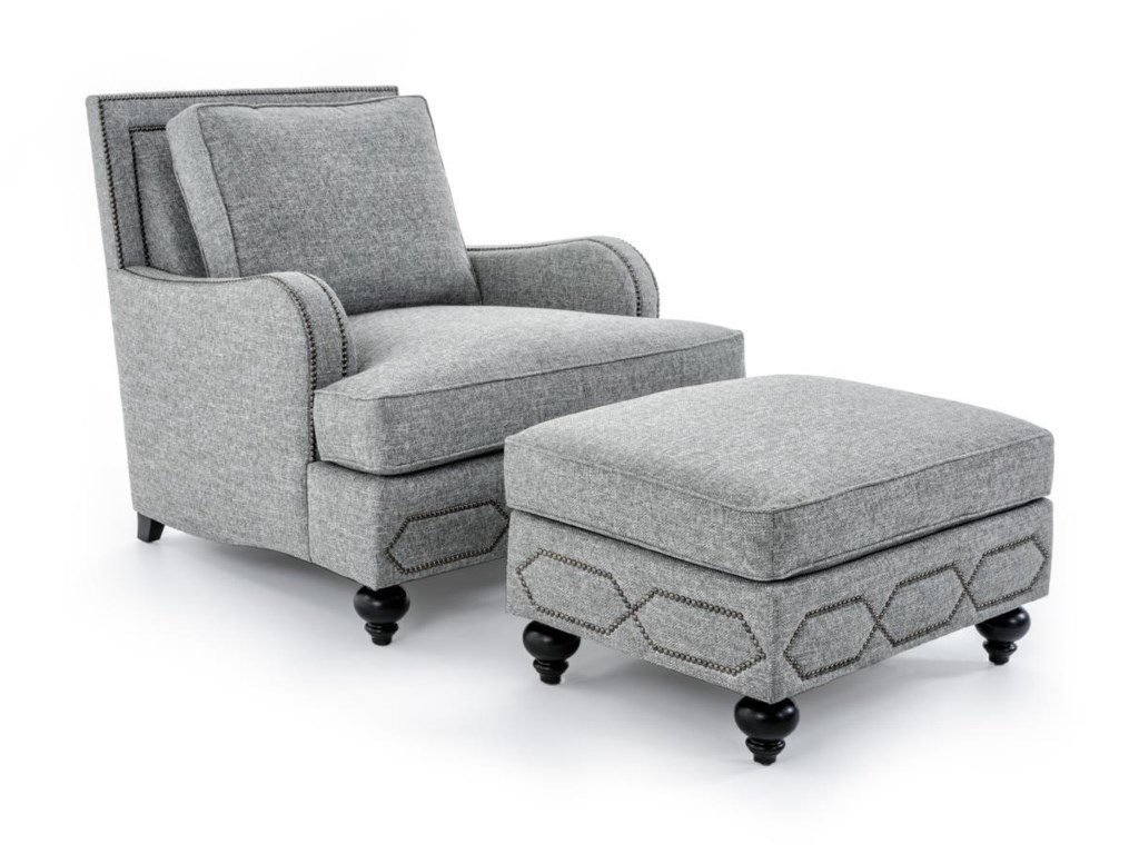 Bernhardt Franklin B4822A GRAY Chair with Transitional Style - Bernhardt Franklin Chair With Transitional Style - Baer's
