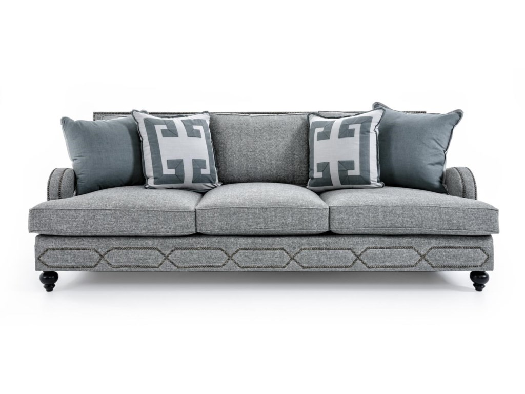 Bernhardt Franklin B4827a Gray Sofa With Transitional Style Baer S Furniture Sofas