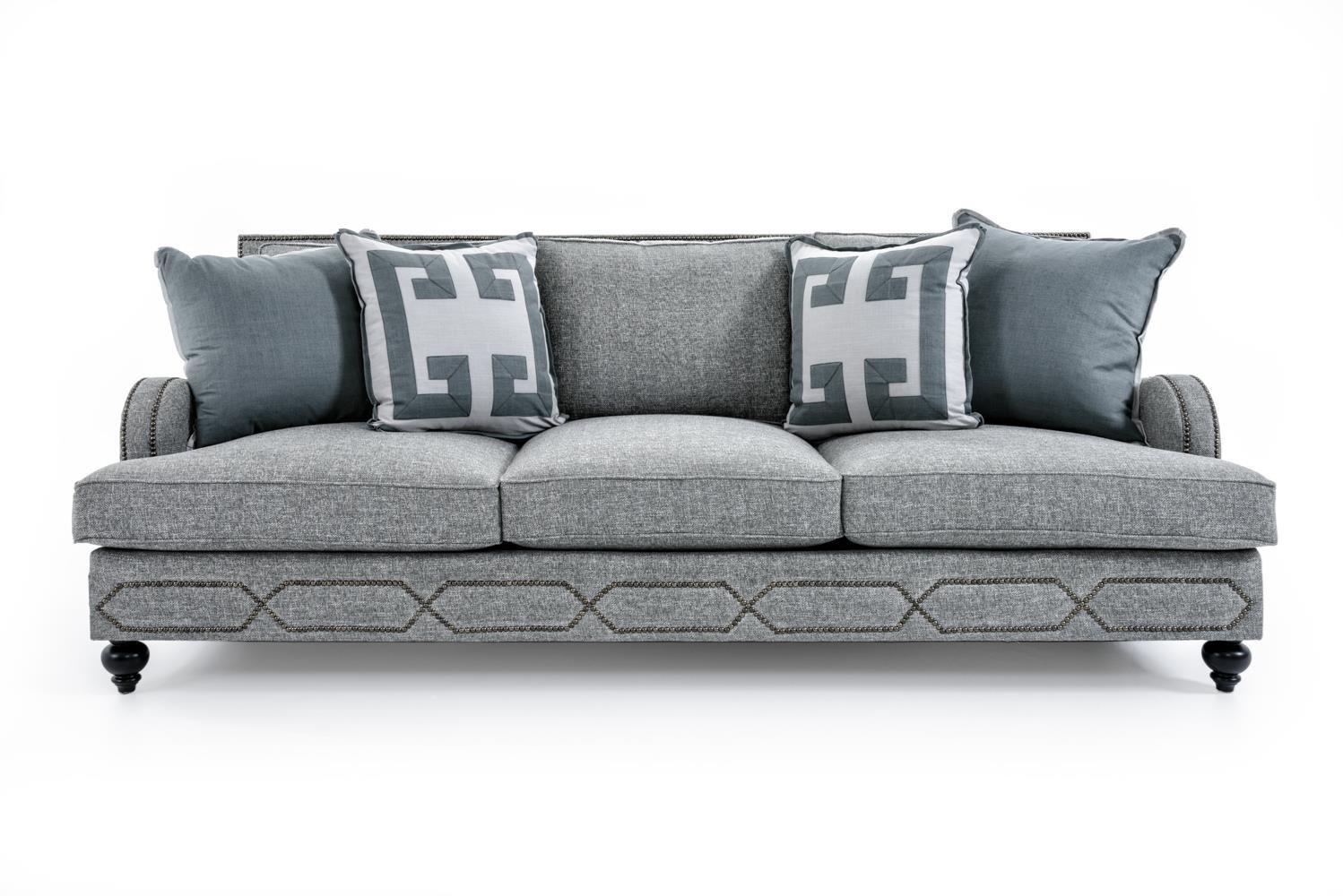 Bernhardt Franklin B4827A GRAY Sofa With Transitional Style | Baeru0027s  Furniture | Sofas