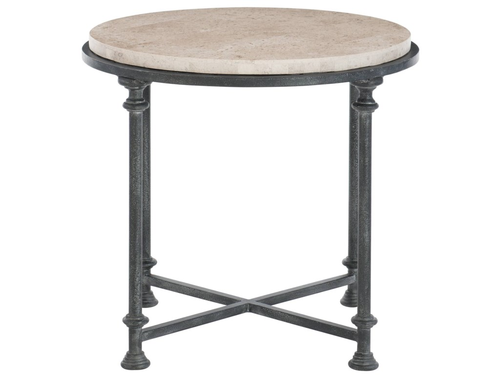 Bernhardt GalesburyRound Metal End Table