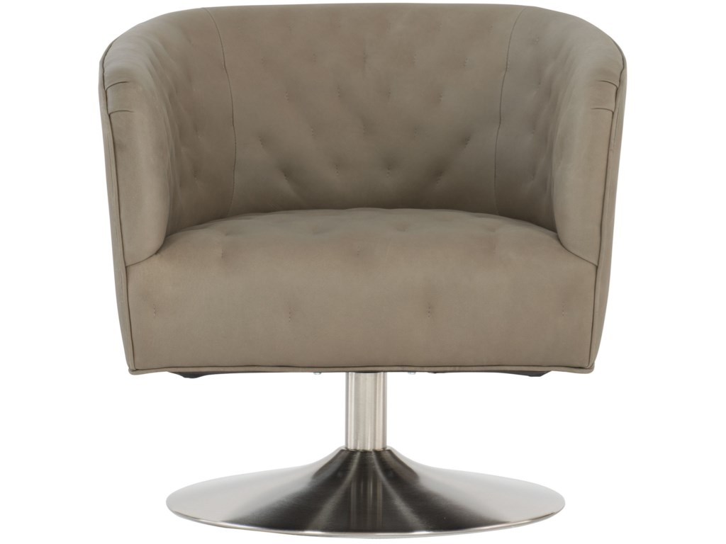 Bernhardt Geneva 5123SL Contemporary Upholstered Swivel ...