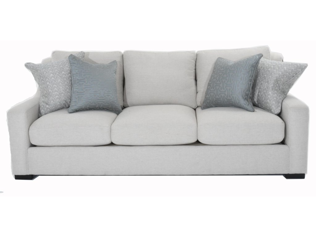 Germain Contemporary Sofa with Spring Down Cushions by Bernhardt at Baer\'s  Furniture