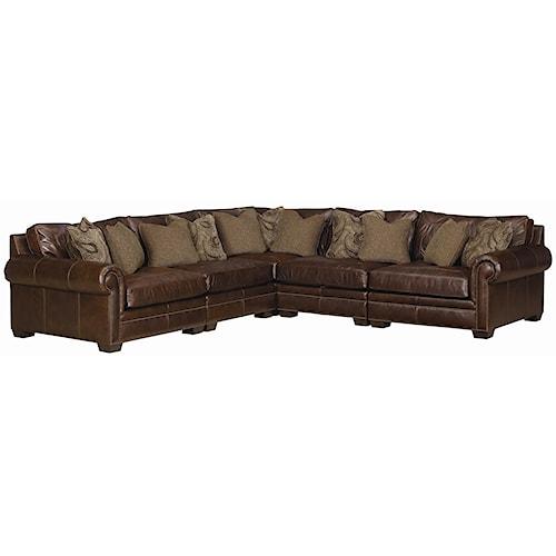 Bernhardt Grandview 5 Piece Traditional Sectional Sofa