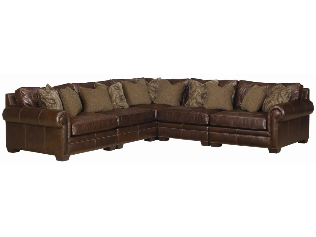 Bernhardt Grandview 5 Piece Traditional Sectional Sofa Jacksonville Furniture Mart Sofas