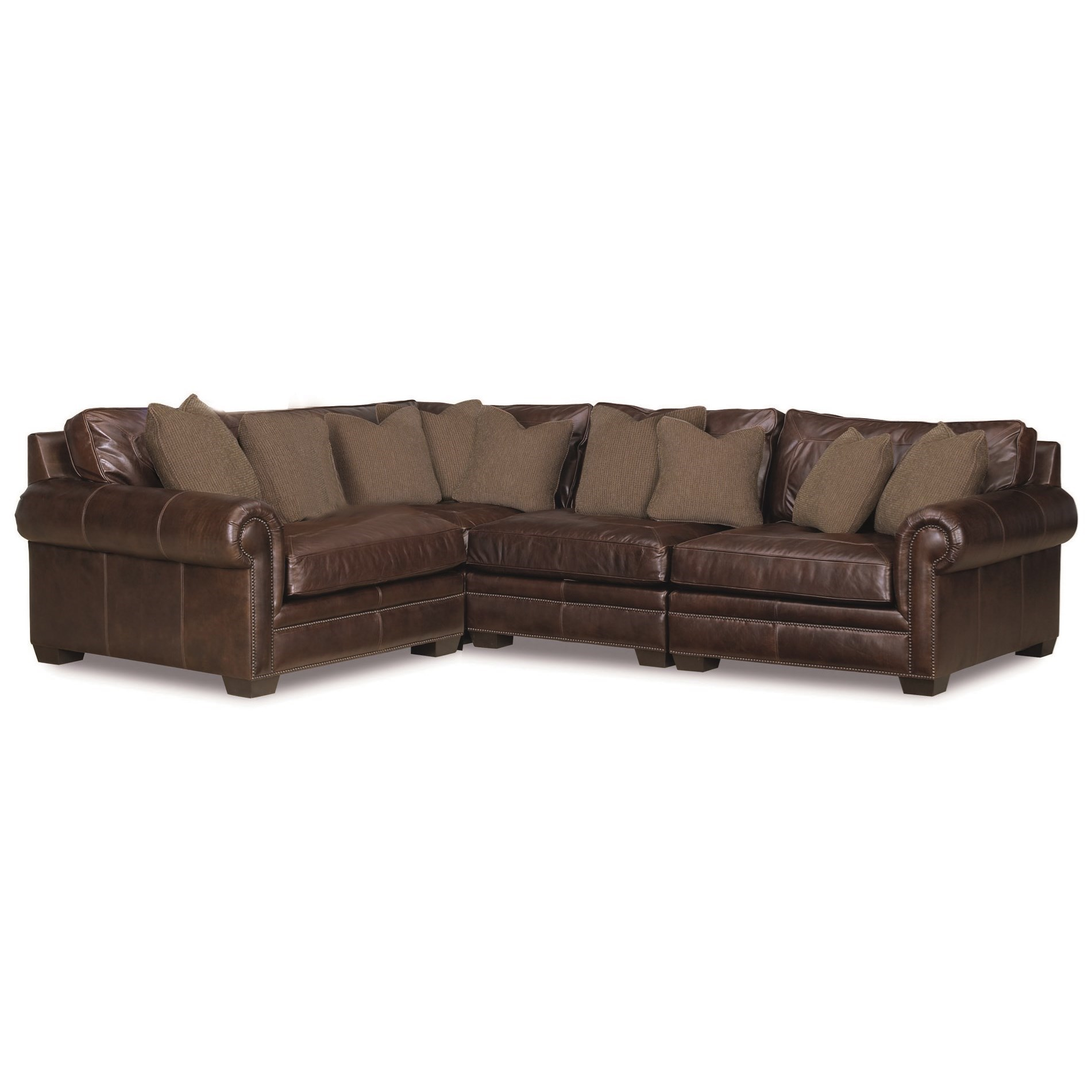 Bernhardt Grandview Four Piece Traditional Sectional Sofa