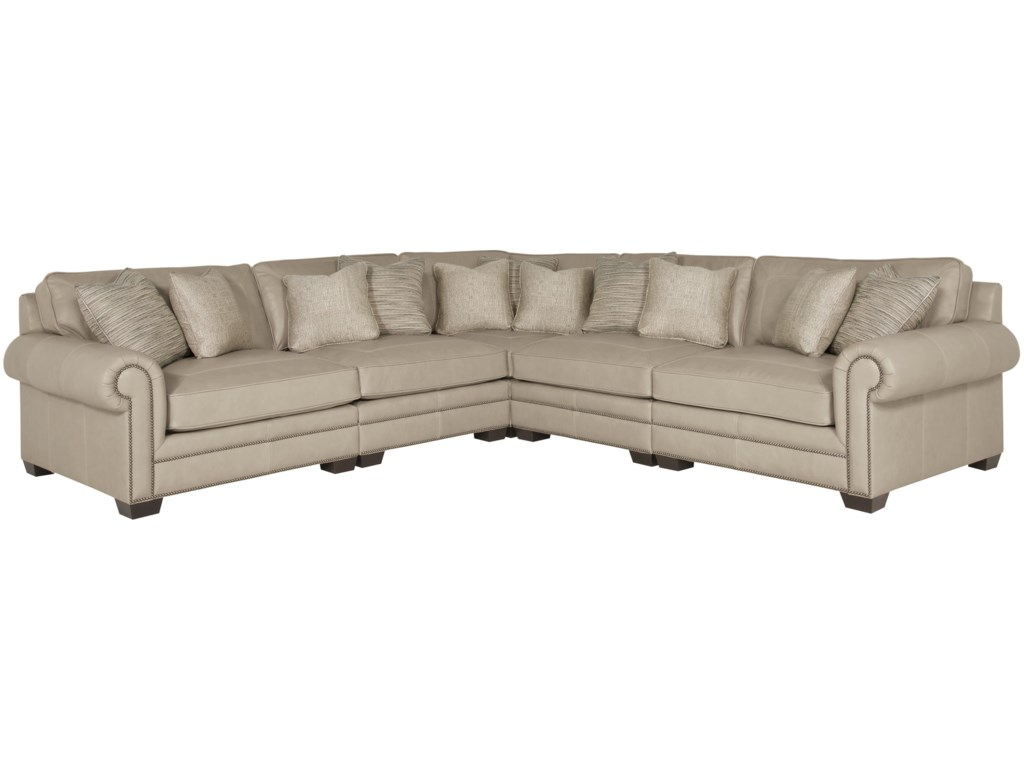 Grandview 5 Piece Traditional Sectional Sofa by Bernhardt at Wayside  Furniture