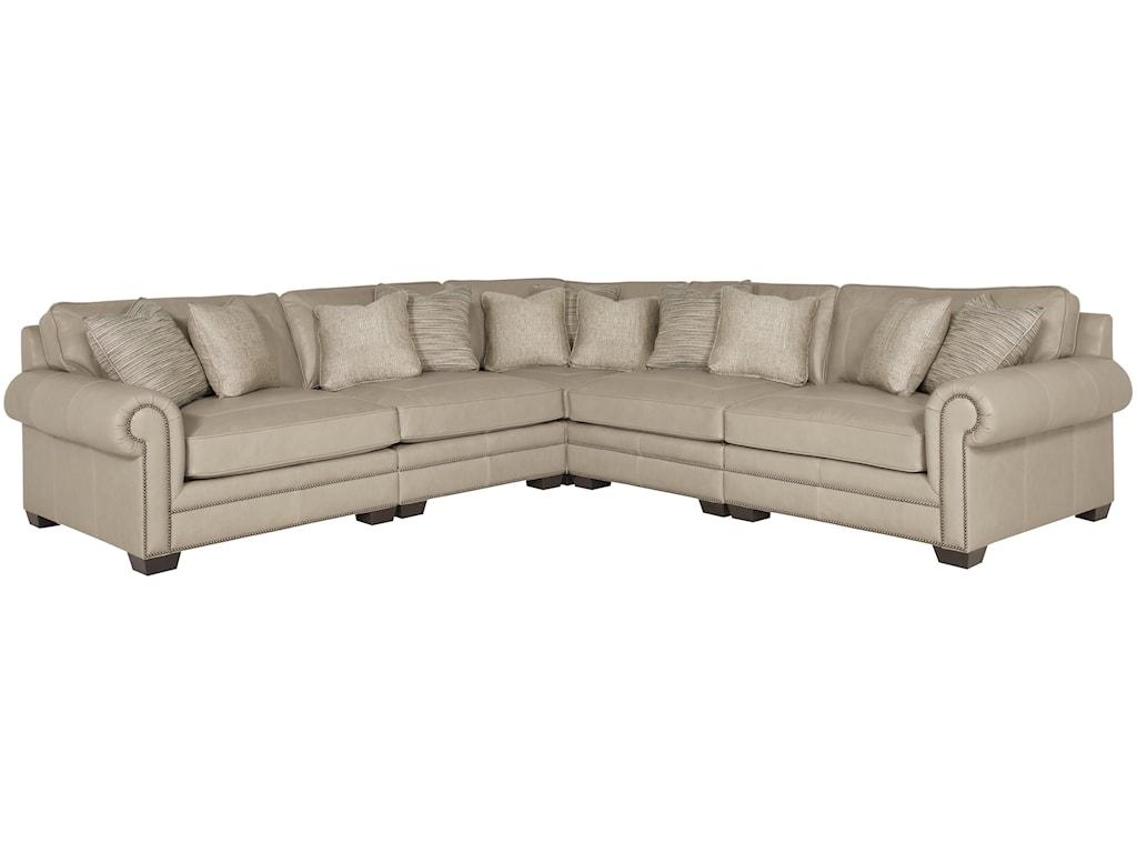 Bernhardt Grandview 5 Piece Traditional Sectional Sofa | Wayside ...