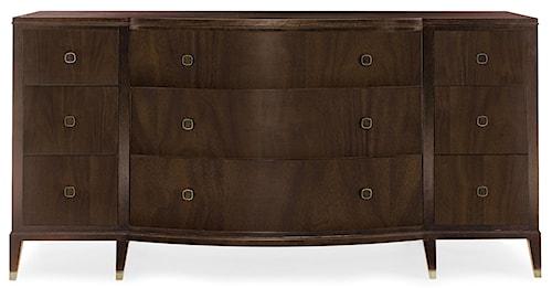 Bernhardt Haven 9 Drawer Dresser with Curved Front