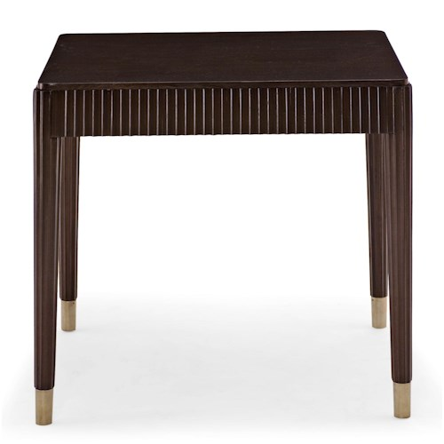 Bernhardt Haven End Table with Fluting