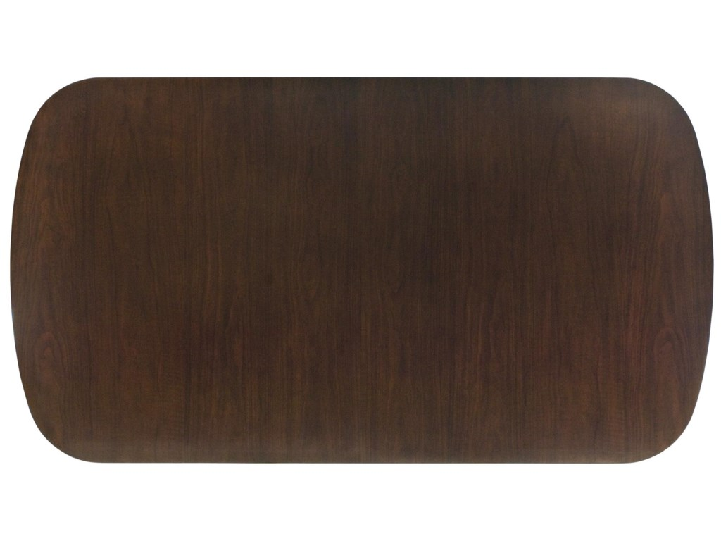 Table Top Shows off Brunette Finish and Walnut Veneers