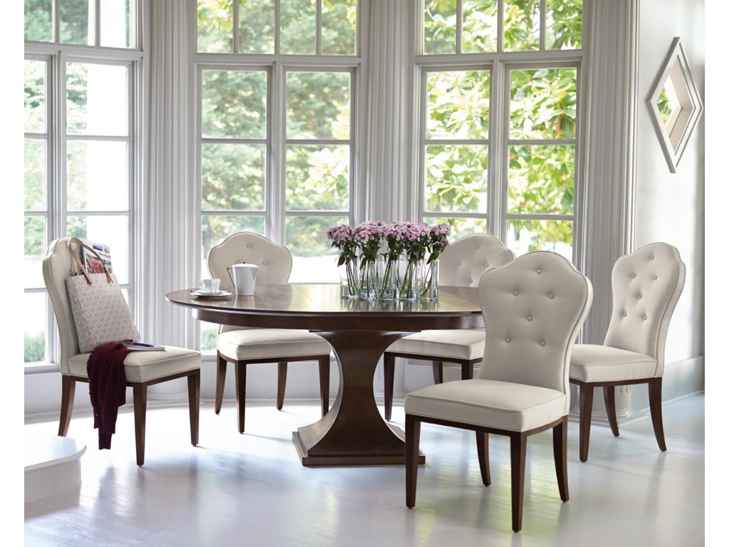 Bernhardt haven6 piece table and chairs set