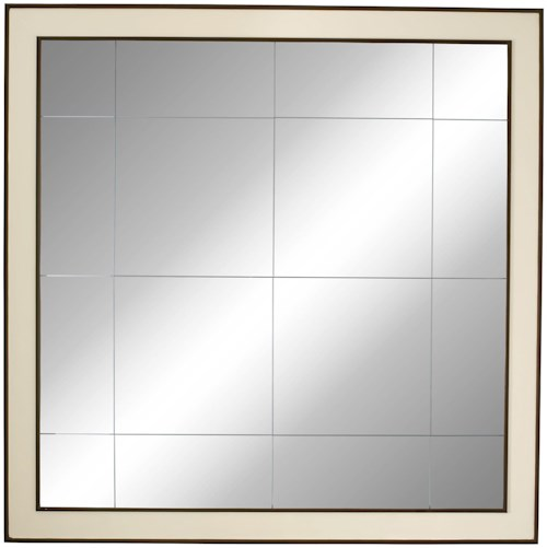 Bernhardt Haven Large Mirror with Two-tone Wood Frame