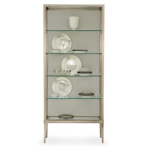 Bernhardt Haven Curio China with Glass Shelving