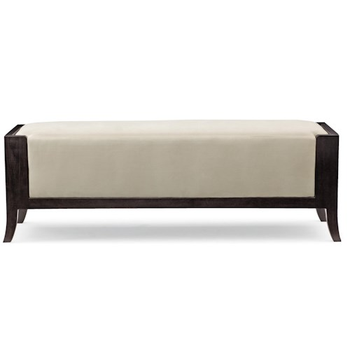 Bernhardt Haven <b>Customizable</b> Bench with Wood Frame and Upholstered Seat