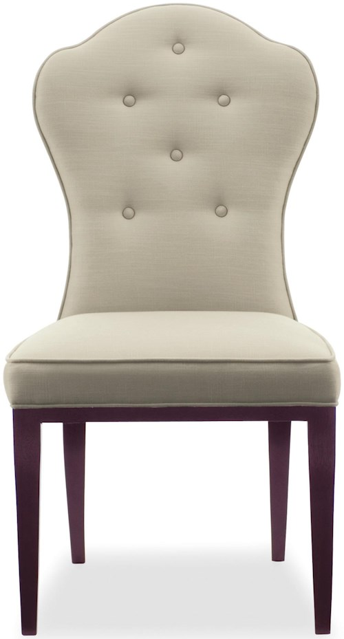 Bernhardt Haven <b>Customizable</b> Side Chair with Button Tufting