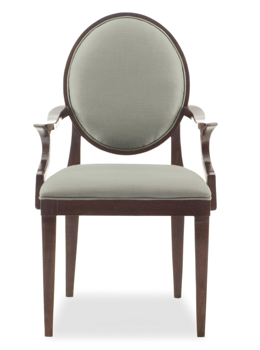 bernhardt haven arm chair with oval back - adcock furniture