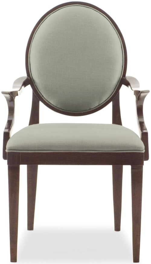 Bernhardt Haven Arm Chair with Oval Back