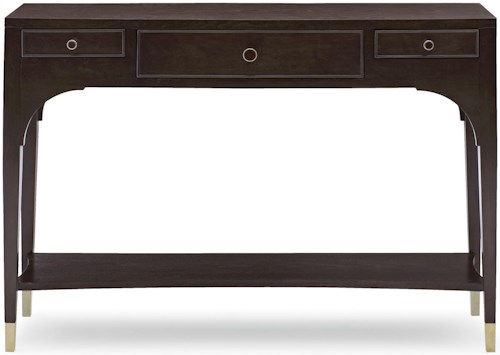 Bernhardt Haven Console Table with 3 Drawers and Shelf