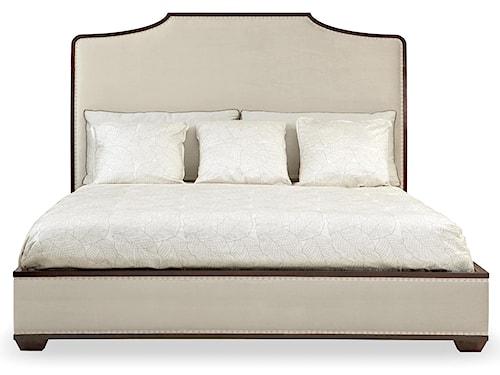 Bernhardt Haven Queen Upholstered Platform Bed with Nailhead Trim