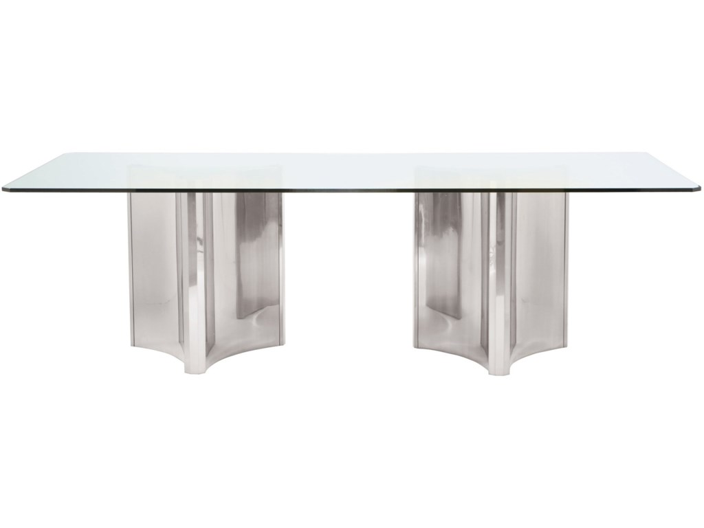 Bernhardt Interiors - AbbotMetal Dining Table with Glass Top