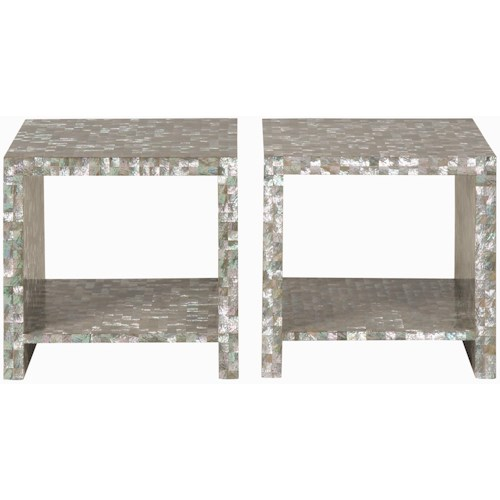 Bernhardt Interiors - Accents Abalone Shell Bunching Cocktail Table