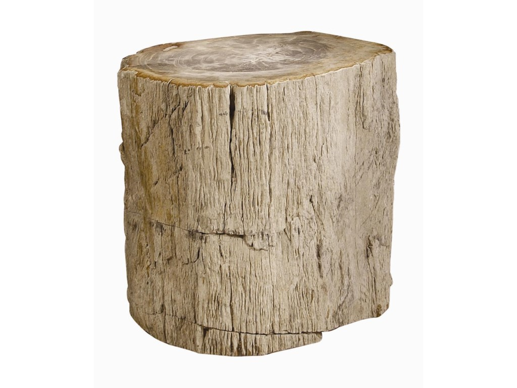 Bernhardt Interiors - AccentsPetrified Wood Side Table