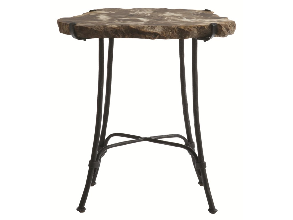 Bernhardt Interiors - AccentsPetrified Wood Slab Side Table