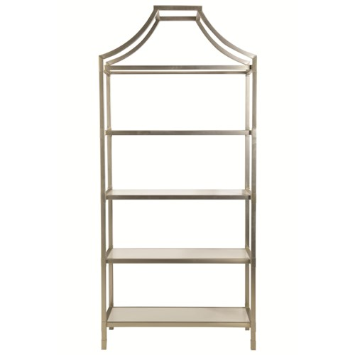 Bernhardt Interiors - Accents Bastien Etagere with 5 Wood Shelves
