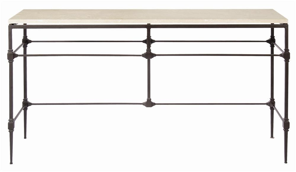 Bernhardt Interiors   Accents Ellsworth Console Table With Travertine Stone  Top   Belfort Furniture   Sofa Tables/Consoles