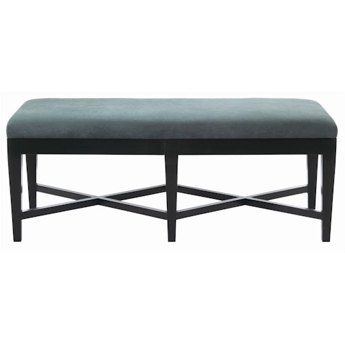 Bernhardt Interiors - Accents Kendall Bench with Double X Stretcher Base