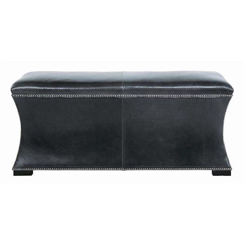 Bernhardt Interiors - Accents Baxter Leather Bench with Nail Head Trim