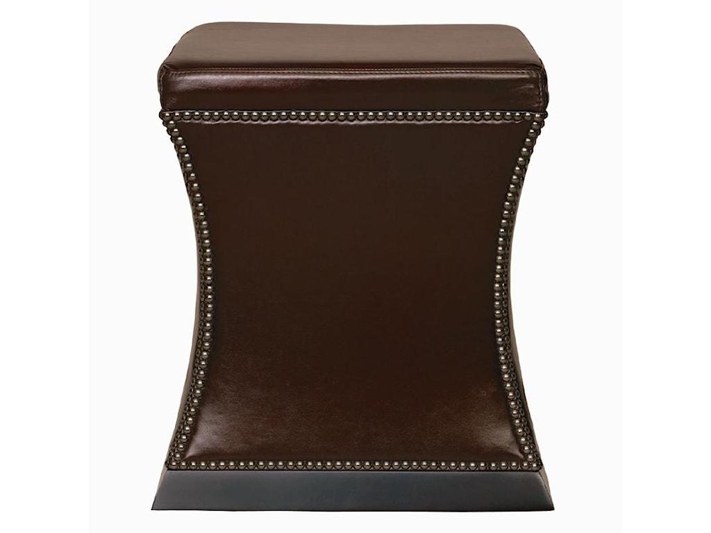 Bernhardt Interiors - AccentsLeyden Leather Ottoman