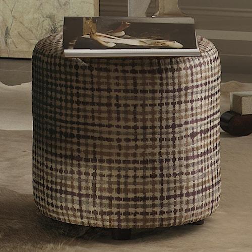Bernhardt Interiors - Accents Pisa Ottoman with Round Footstool Style