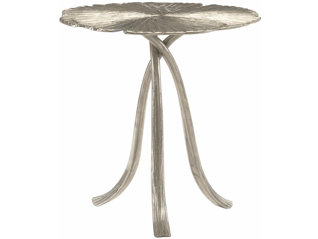 Bernhardt Interiors - AnnabellaRound Ginko Leaf Metal End Table