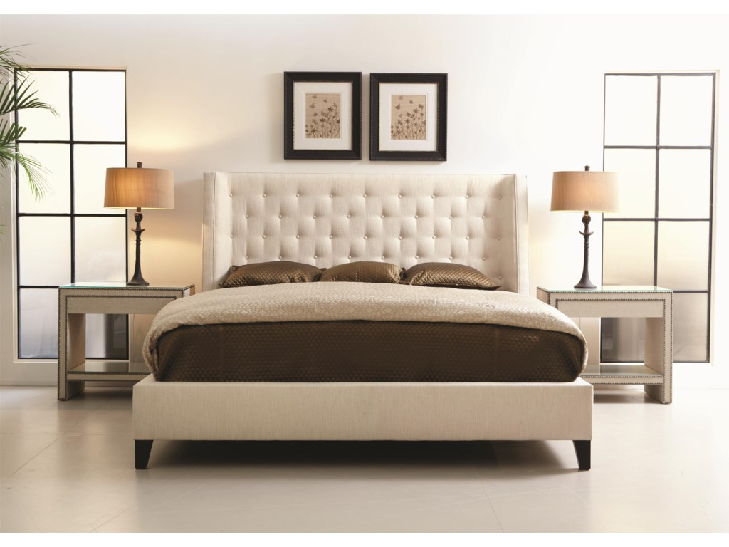 Bernhardt Interiors - BedsMaxime California King Platform Wing Bed
