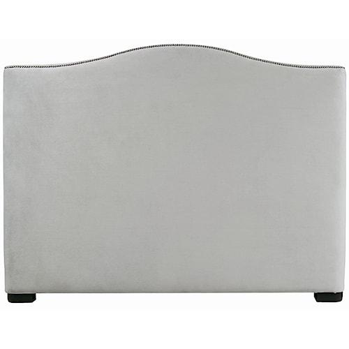 Bernhardt Interiors - Beds California King-Size Graham Upholstered Camelback Headboard