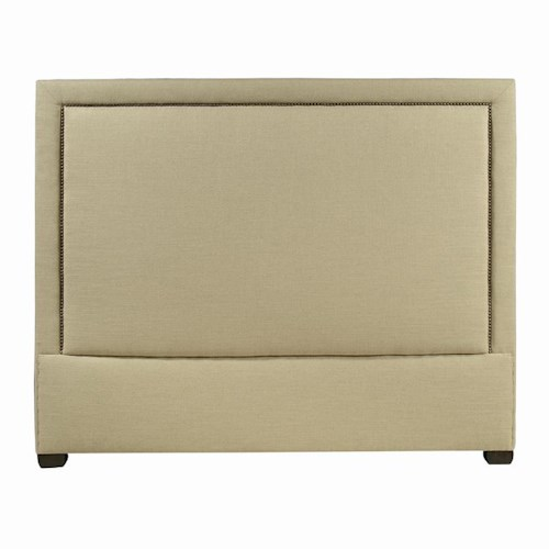 Bernhardt Interiors - Beds California King-Size Morgan Upholstered Panel Headboard