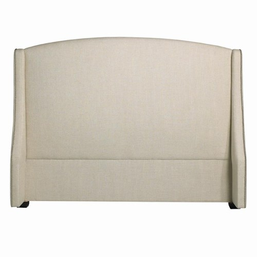 Bernhardt Interiors - Beds Queen-Size Cooper Fabric-Upholstered Wing Headboard