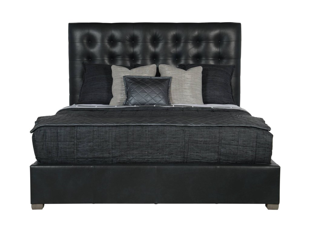 Bernhardt Interiors - BedsQueen Avery Leather Bed