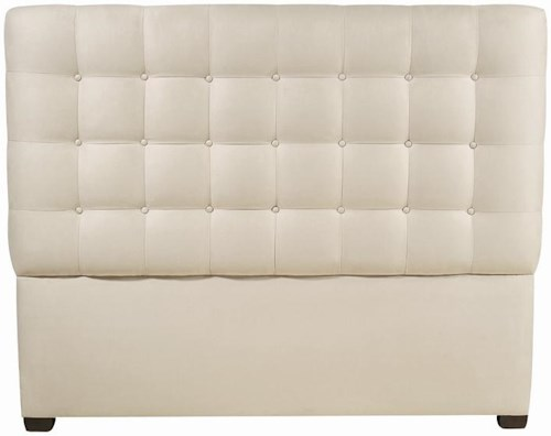 Bernhardt Interiors - Beds California King-Size Avery Button-Tufted Fabric Upholstered Headboard