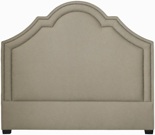 Bernhardt Interiors - Beds California King-Size Madison Crown Top Upholstered Headboard