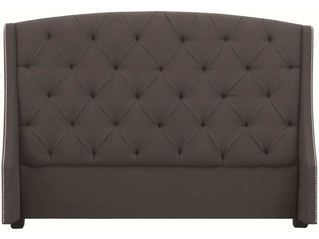 Bernhardt Interiors - BedsQueen Jordan Button-Tufted Wing Headboard