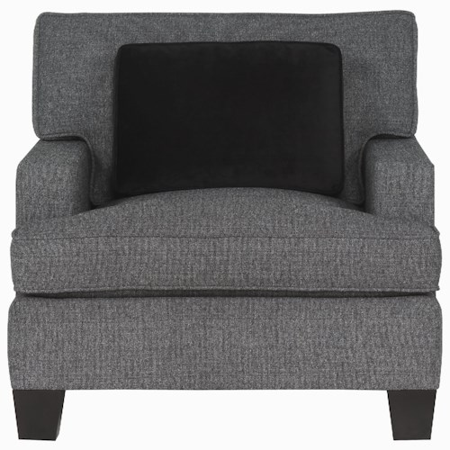 Bernhardt Interiors - Denton Upholstered Chair with Exposed Wood Feet