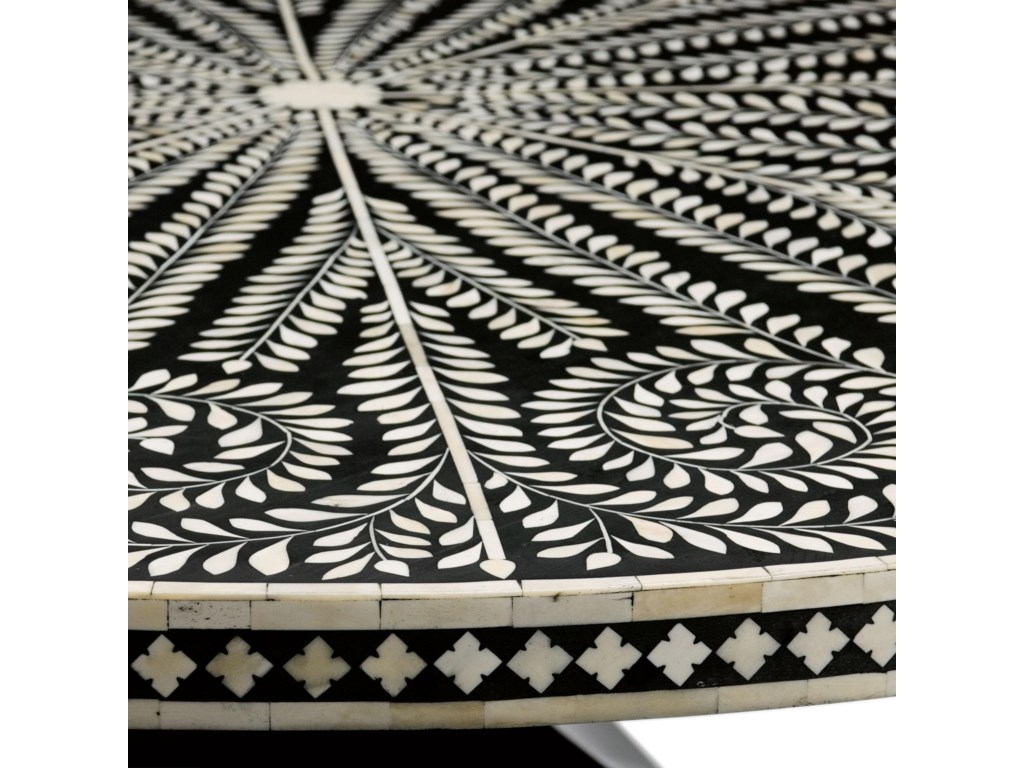 Detail View of Patterned Bone Inlay Top