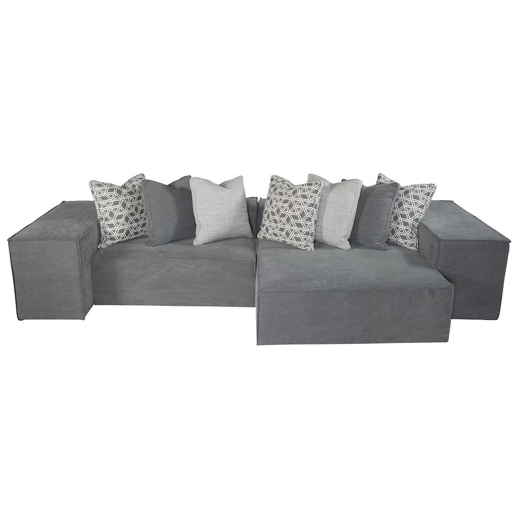 Bernhardt Interiors Format Six Piece Modern Modular Sectional Sofa