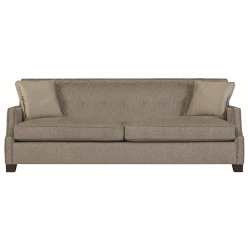 Bernhardt Interiors - Franco High End Transitional Sofa Sleeper with Modern Style and Nail Head Trim